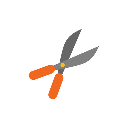 Shears Gardening Logo Icon Design Çizim