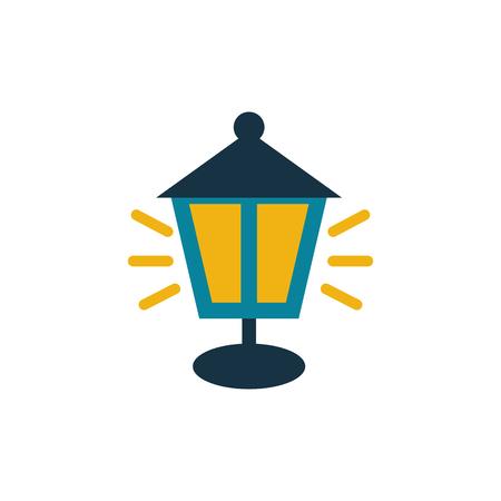 Lamp Gardening Logo Icon Design