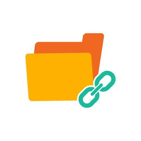 Link Folder Logo Icon Design