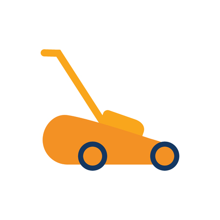 Lawn Mower Gardening Logo Icon Design