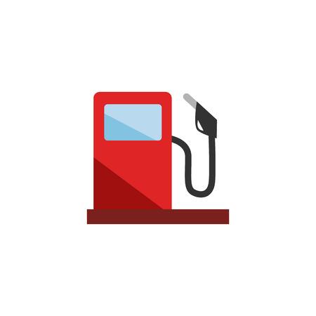 Projekt ikony logo stacji benzynowej Logo