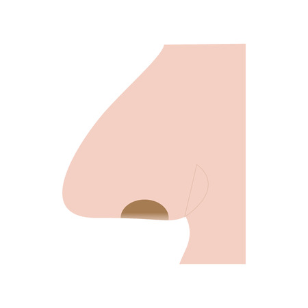 Nose Human Organ Logo Icon Design 向量圖像
