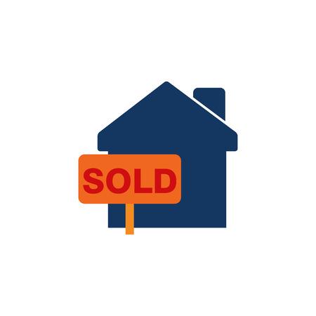 Sold Home Sale Logo Icon Design Illustration