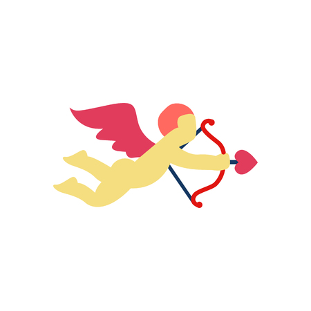 Cupid Love And Valentine Icon Design 일러스트
