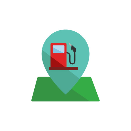 Gas Station Map And Pin Icon Design