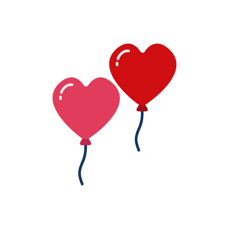 Balloon Love And Valentine Icon Design