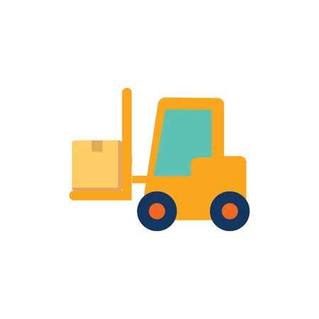 Forklift Logistic Icon Design