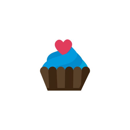 Cake Love And Valentine Icon Design