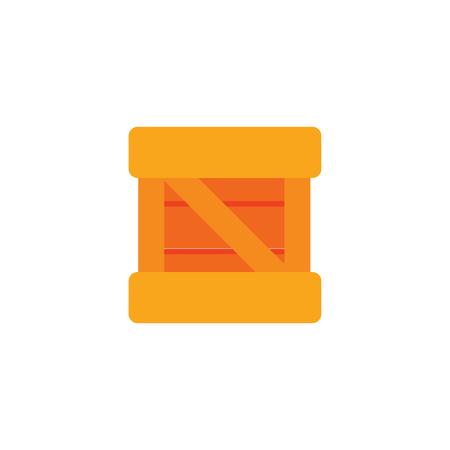 Box Logistic Icon Design Illusztráció