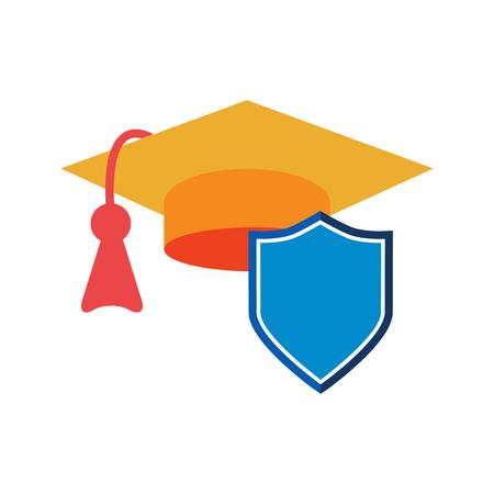 Education Insurance Icon Design