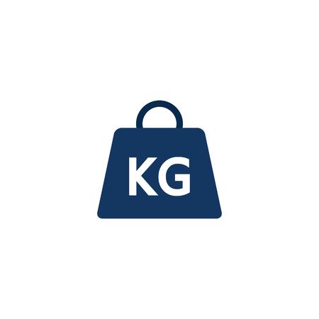 Conception d'icône logistique de poids Vecteurs