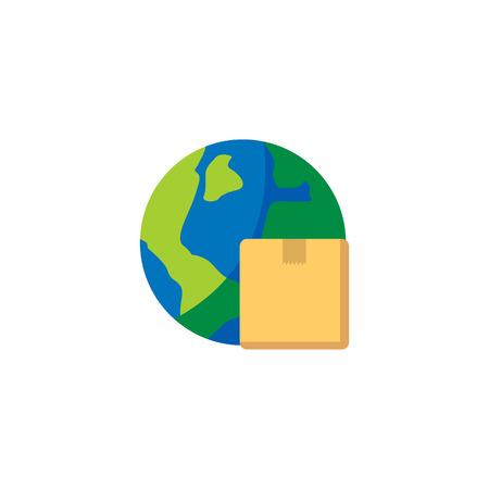 Globe Logistic Icon Design