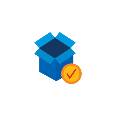 Check Logistic Icon Design Illusztráció