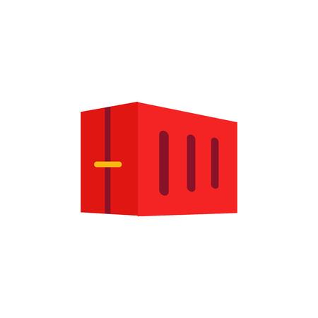 Container Logistic Icon Design Illustration