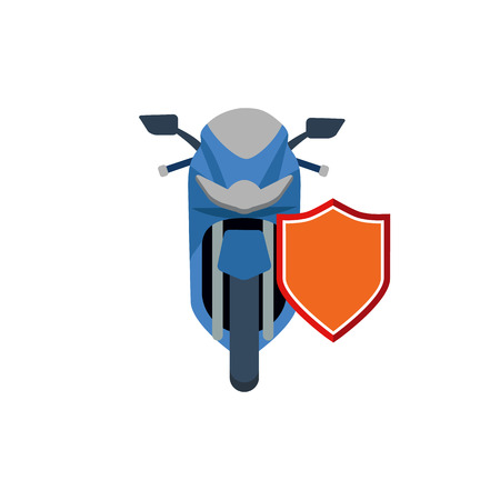 Motorcycle Insurance Icon Design