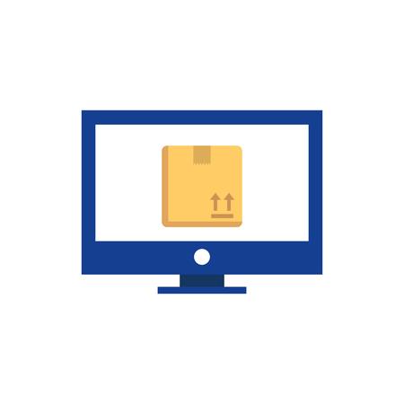 Online Logistic Logo Icon Design Illusztráció