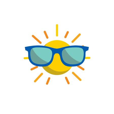 Sunglasses Summer Holiday Logo Icon Design