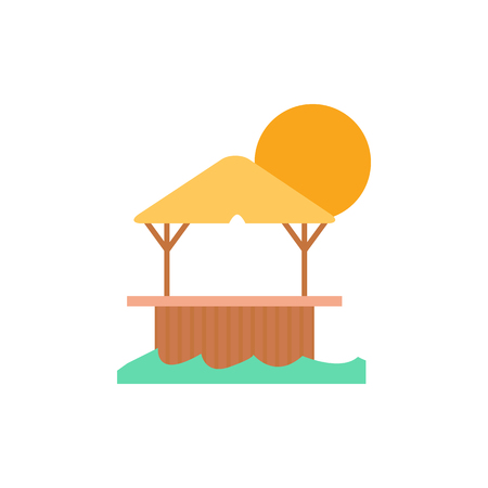 Drink Summer Holiday Logo Icon Design Çizim