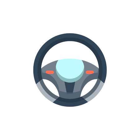 Steering Wheel Sparepart And Car Logo Icon Design