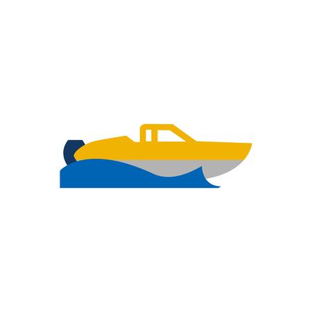 Speedboat Summer Holiday Logo Icon Design