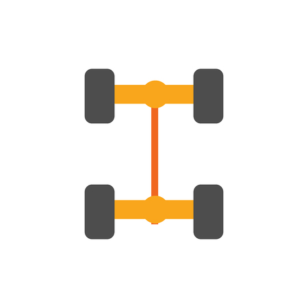 Axle Sparepart And Car Logo Icon Design