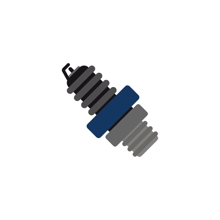 Spark Plug Sparepart And Car Logo Icon Design