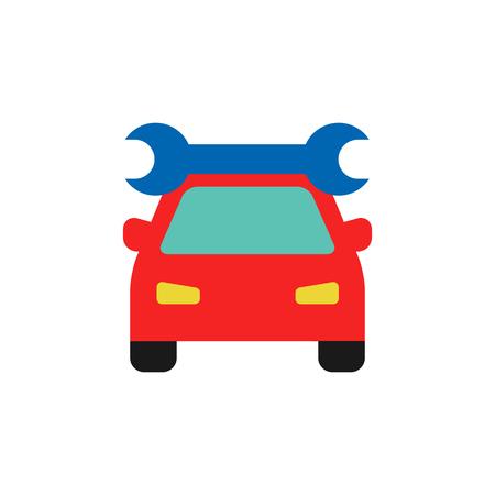 Fix Sparepart And Car Logo Icon Design