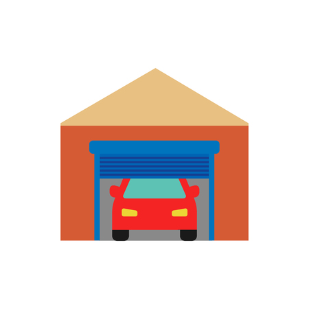 Warehouse Sparepart And Car Logo Icon Design Illustration