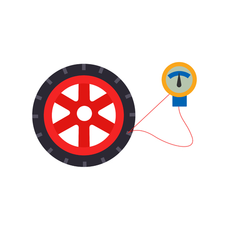 Tire Pressure Sparepart And Car Logo Icon Design