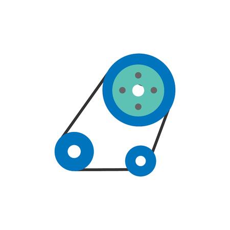 Diseño de icono de logotipo de coche y repuestos de máquina