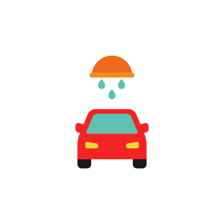 Wash Sparepart And Car Logo Icon Design Illustration