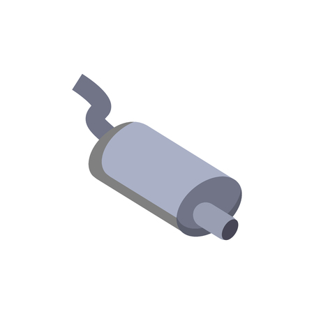 Exhaust Sparepart And Car Logo Icon Design Illustration