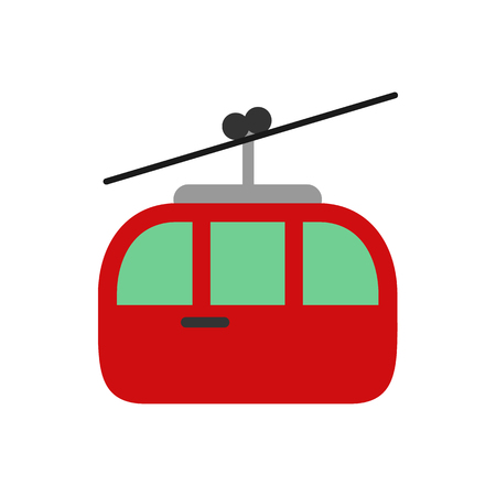 Cable Car Transportation Logo Icon Design Çizim