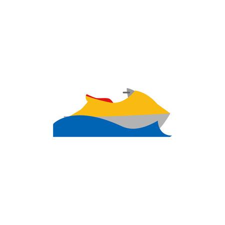 Conception d'icône de logo de vacances d'été Jetski