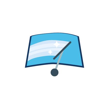 Windshield Wiper Sparepart And Car Logo Icon Design