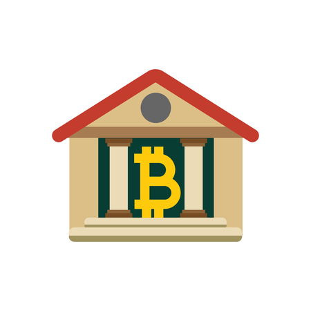Court Bitcoin Cryptocurrency Logo Icon Design 向量圖像