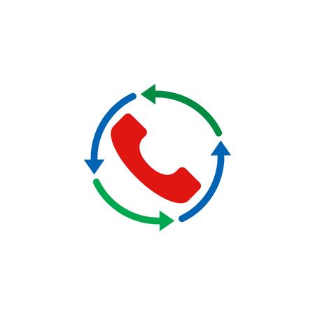 Refresh Call Logo Icon Design