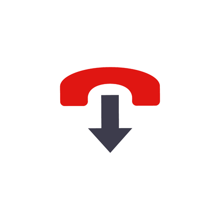 Closed Call Logo Icon Design Illustration