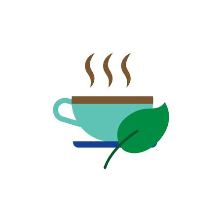 Hot Coffee And Tea Logo Icon Design Stock Vector - 106766598