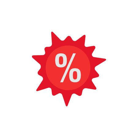 Discount Logo Icon Design Ilustrace