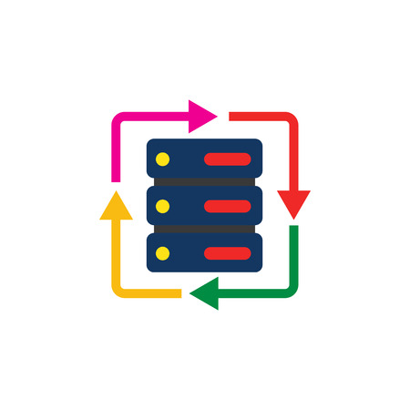 Refresh Database Server Logo Icon Design
