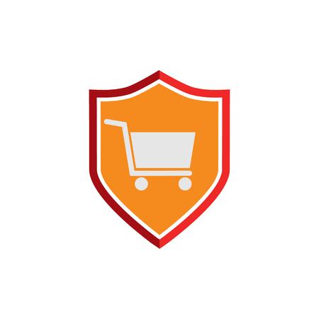 Shield Discount Logo Icon Design