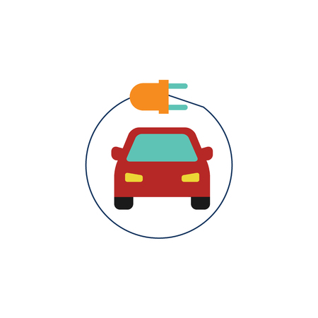 Charge Electric Car Logo Icon Design