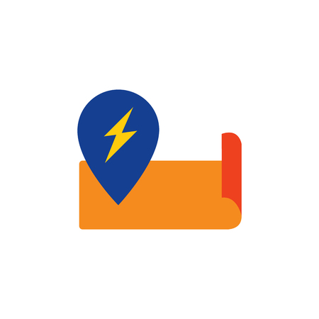 Pin Electric Logo Icon Design Ilustracja