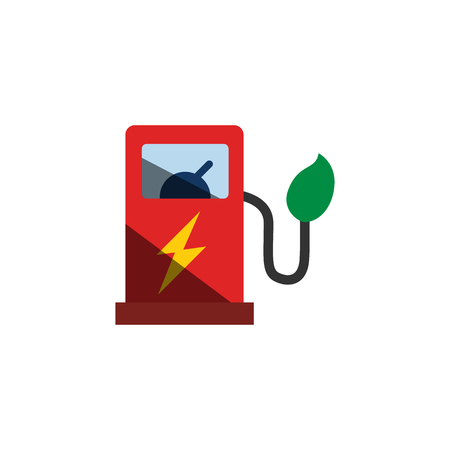 Station Electric Car Logo Icon Design