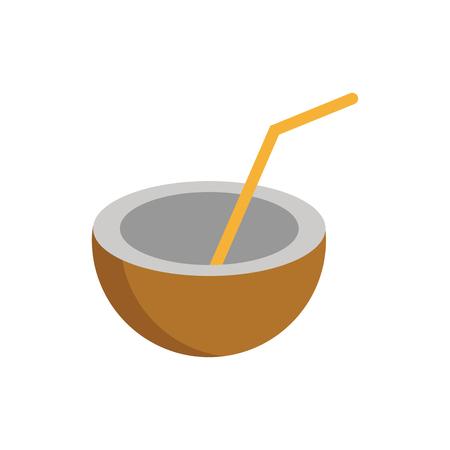 Coconut Drink Logo Icon Design