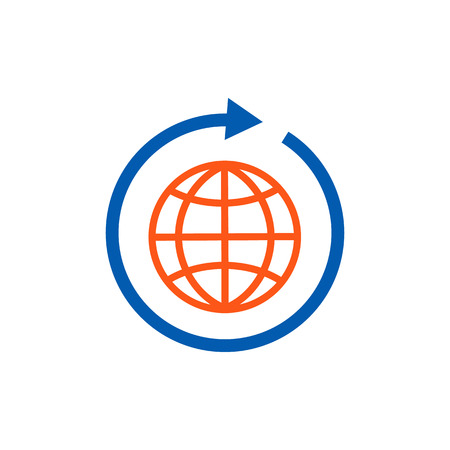 World Logistic Service Logo Icon Design