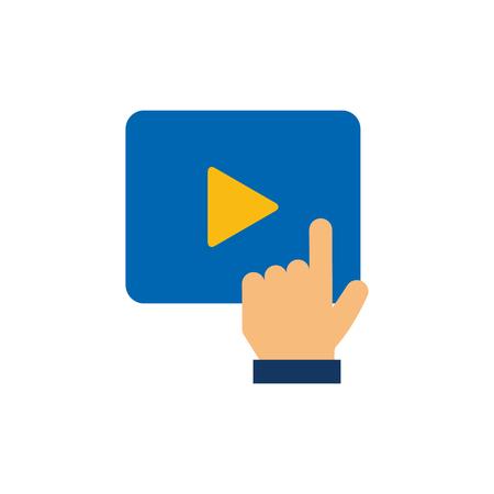 Click Film Video Logo Icon Design 일러스트