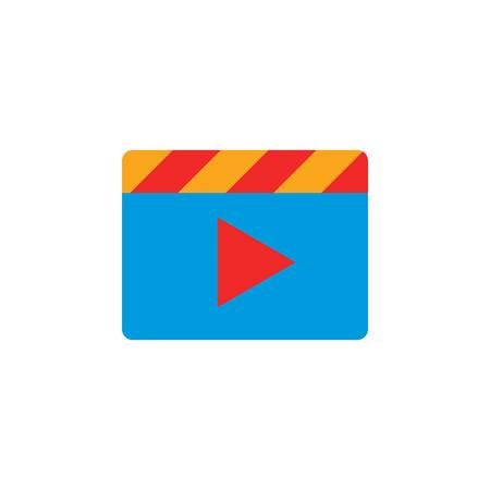 Film Video Logo Icon Design Stock Vector - 106805788