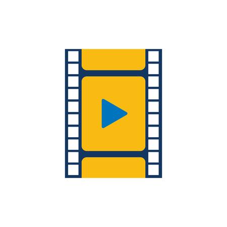 Film Video Logo Icon Design Stock Vector - 106805849